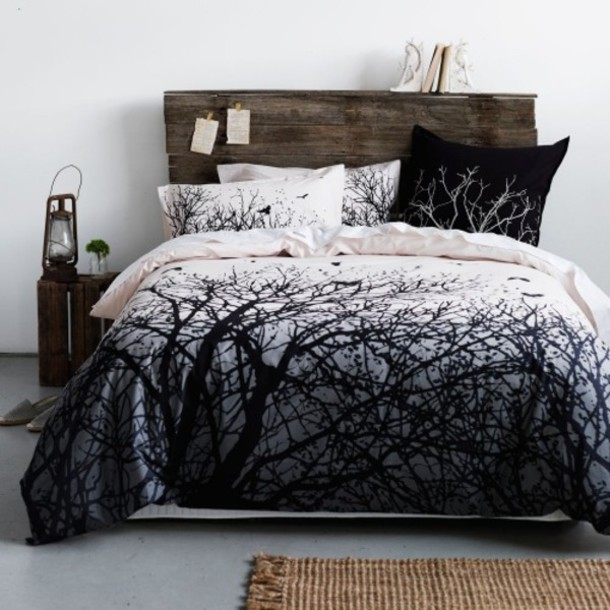 anthropologie home accessory black white bedding