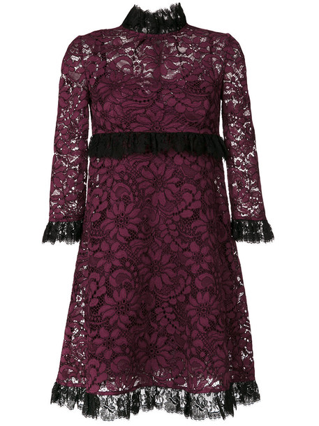Dolce & Gabbana dress lace dress women lace cotton purple pink