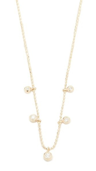 clear diamonds necklace gold jewels