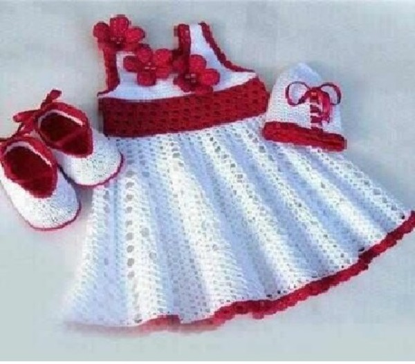 White Crochet Baby Girl Dresses Handmade White And By Theccvillage