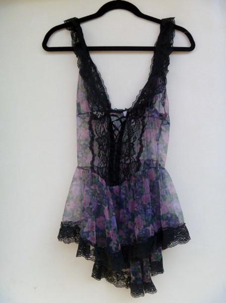 underwear lingerie black underwear lacy lace black lace black lace lingerie floral roses see through sexy cute pretty