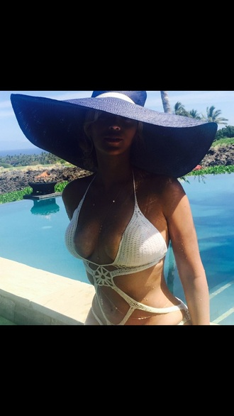 swimwear hat beyonce crochet jewelry body chain gold body chain