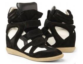 Top suede noir blanc [isabel marant sneakers