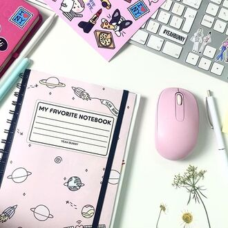home accessory yeah bunny notebook pastel pink space cute giry millennial pink