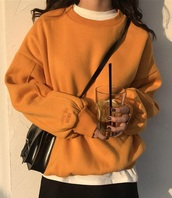 sweater,girly,tumblr,oversized sweater,oversized,jumper,orange,love me more