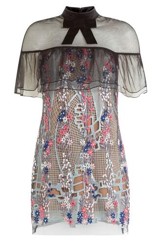 dress mini dress mini floral multicolor