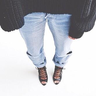 shoes black high heels jeans sweater black high heels black heels lace up heels black lace up heels zara zara shoes