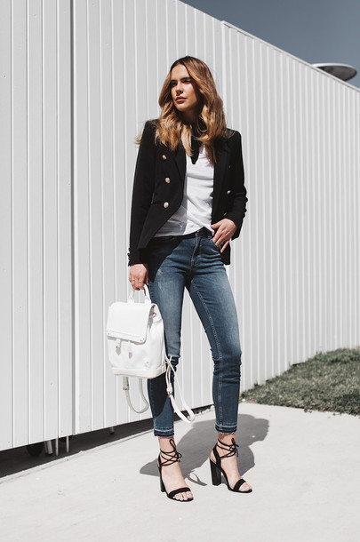sbstnc blogger jeans jacket shoes