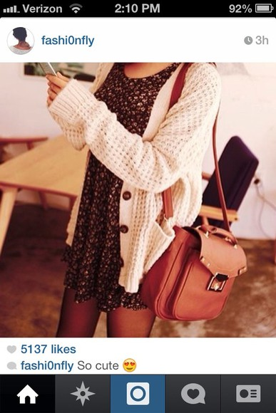 sweater white sweater knit sweater dress floral dress