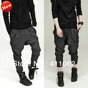 pants,grey,baggy pants,drop crotch pants,hareem pants,joggers,joggers pants