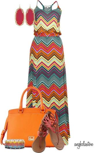 dress maxi dress multi colored stripes zigzag summertime spaghetti strap spaghetti straps dress