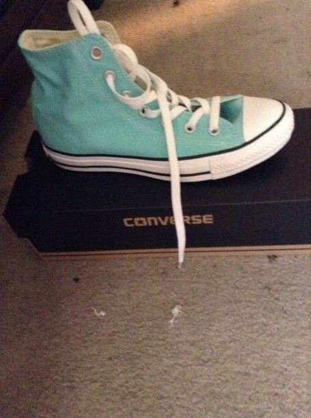 shoes light baby blue converses