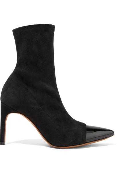 Givenchy sock boots leather suede black shoes