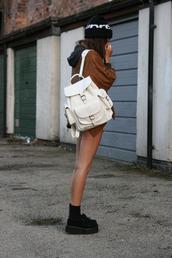 bag,backpack,black,white,handbag,blouse,shoes