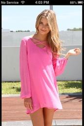 dress,hot pink dress