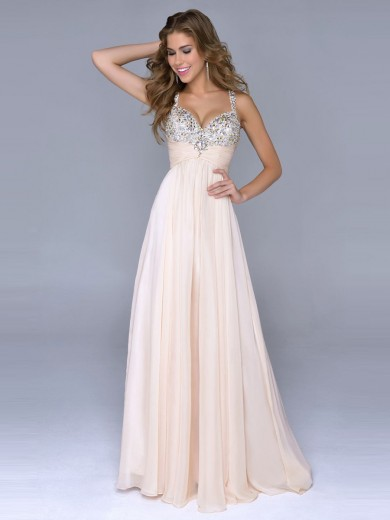 Floor Length Prom Dresses with Straps