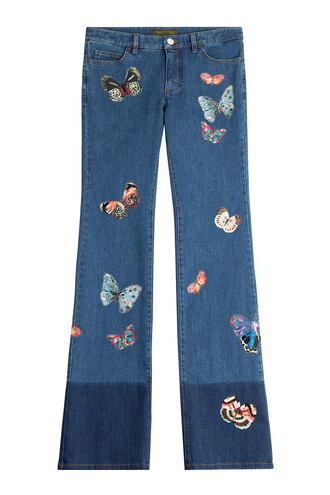 jeans patchwork butterfly