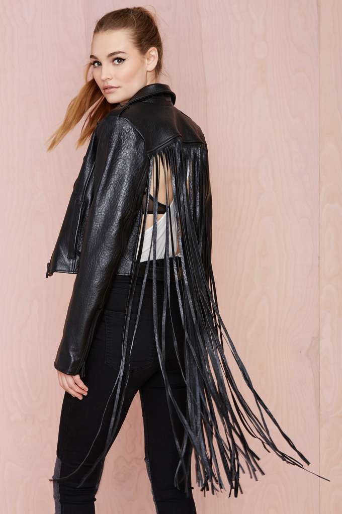 The misfit fringe jacket