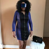 dress,noire la,mesh,adidas,mini dress,addicted,fishnet dress,mesh dress,sunglasses,shield,shield sunglasses,oversized shield sunglasses,nicki minaj