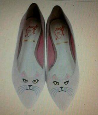 shoes catshoes palepink ballerina cats
