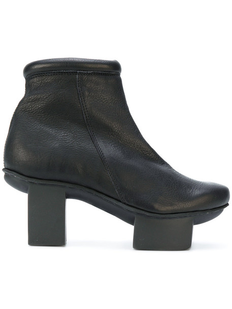 Trippen women boots ankle boots leather black shoes