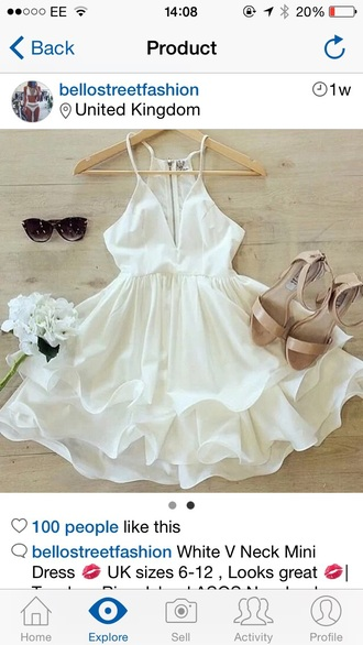 dress flowy white dress
