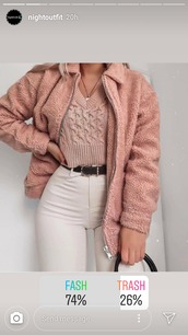 sweater,sweater weather,christmas,pink,chanel oberlin,trendy