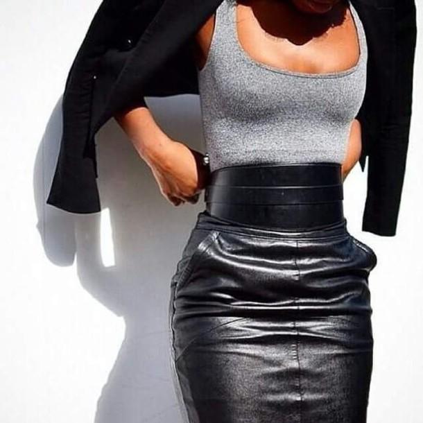 skirt belt tank top