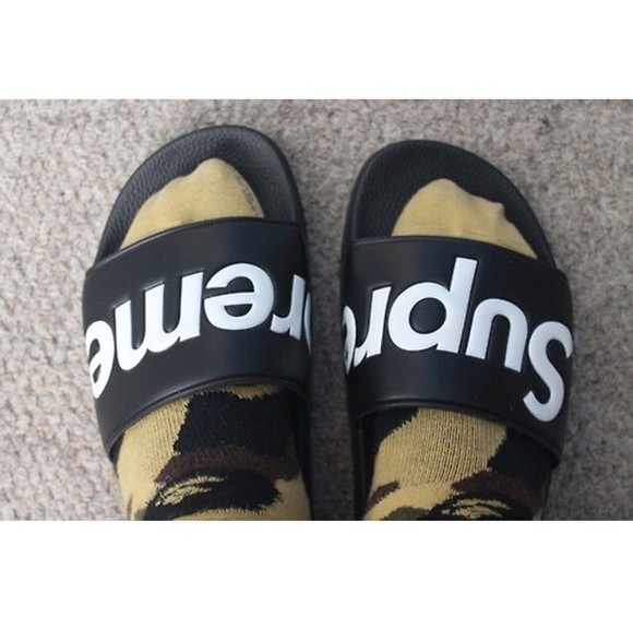 supreme shoes slippers hipster