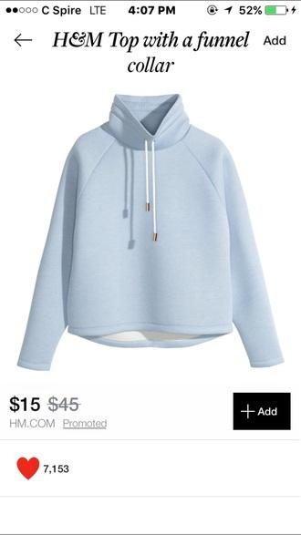 jacket blue sweater drawstring sweatshirt pullover