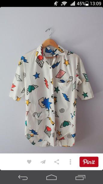 blouse cool shirt women pattern stars