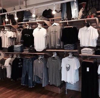 t-shirt grunge store shop