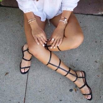 shoes black shoes sandals gladiators