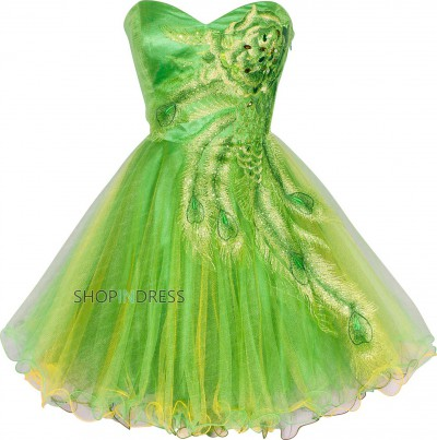 Line sweetheart short/mini organza green homecoming dress with beaded npd2051 sale at shopindress.com