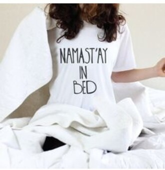 blouse bedding stay in bed sleep namaste