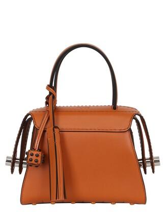 mini bag leather orange