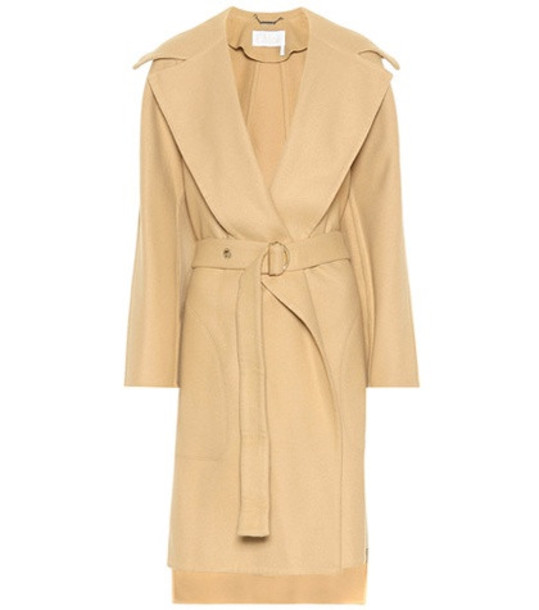 Chloé Stretch wool coat in beige / beige