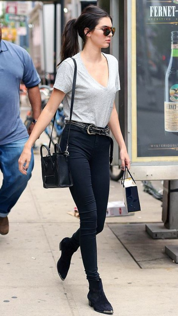 Belt Top Pants Kendall Jenner Sunglasses Jeans Shoes