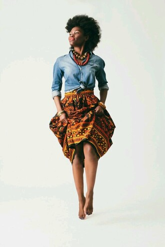 skirt patterned skirt african american african skirt african print african pattern pattern ethnic skirt ethnic ethnic pattern ethnic print orange black yellow