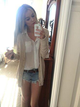 blouse shirt cardigan hipster cute acacia brinley shorts high-waist jean shorts summer