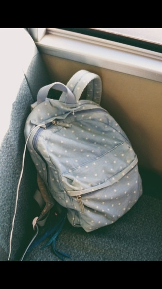 bag blue bag polkadot