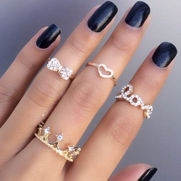 jewels bow mid ring