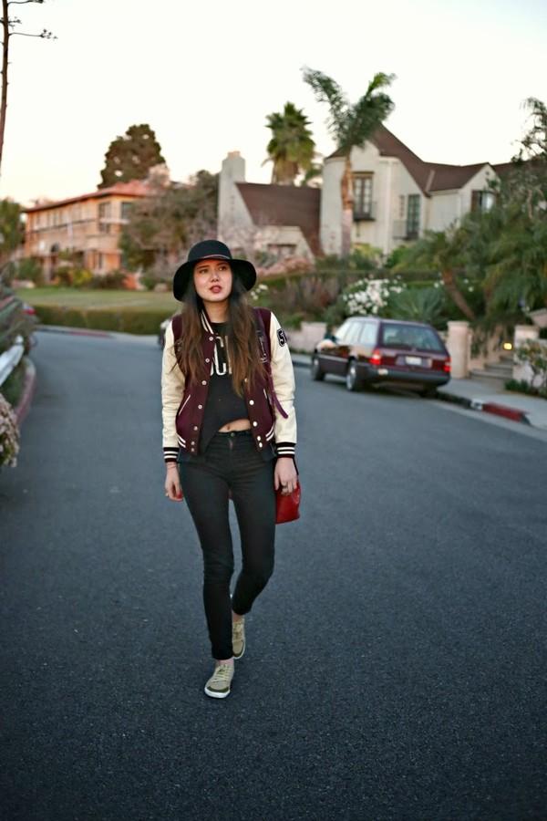 color me nana tank top jacket jeans hat bag shoes
