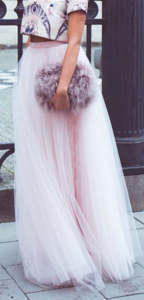 top pastel sequins elegant outfit girly skirt bag pastel bag