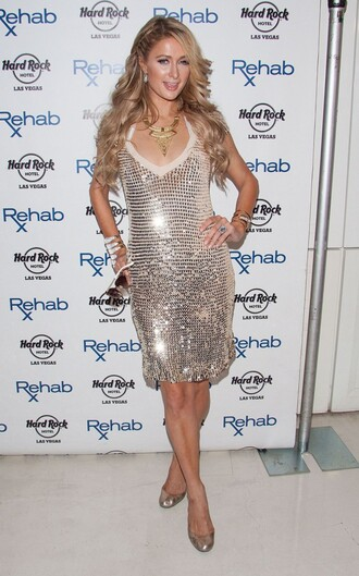 dress sequin sequins paris hilton