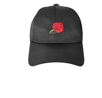 hat black rose cap