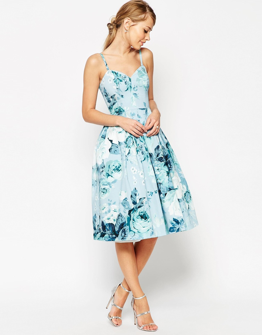 PETITE SALON Rose Bandeau Midi Prom Dress at asos.com