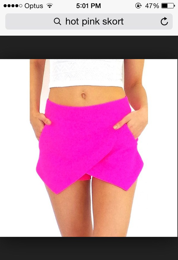 shorts pink bright urgent pretty skorts