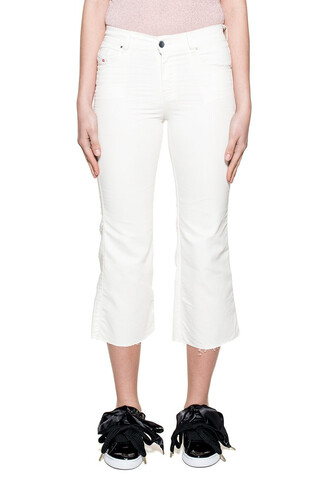jeans cropped jeans denim cropped white
