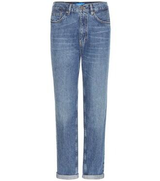jeans cropped jeans vintage cropped high boyfriend blue